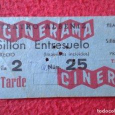 Cine: BILLETE ENTRADA TICKET ENTRY VALE TEATRO ALBENIZ MADRID ? CINERAMA PUBLICIDAD BOCAMICINA CHICLE VER . Lote 175688593
