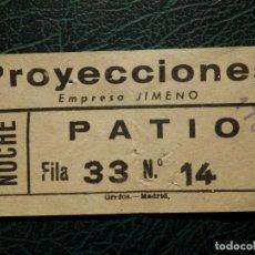 Cinéma: ENTRADA CINE - PROYECCIONES - AÑOS 50´S. Lote 175909425