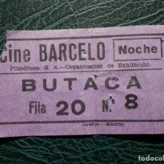 Cinéma: ENTRADA CINE - CINE BARCELO - NOCHE - AÑOS 50´S. Lote 175910322