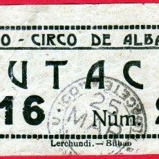 Cine: ANTIGUA ENTRADA DEL TEATRO CIRCO DE ALBACETE AÑO 1934 CIRCA. Lote 176304933