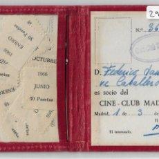 Cine: CARNÉ CINE-CLUB MADRID - P29307. Lote 176380854