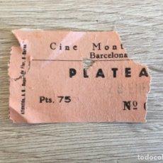 Cine: R7017 ENTRADA TICKET CINE CINEMA TEATRO MONTECARLO BARCELONA 1961. Lote 179225560