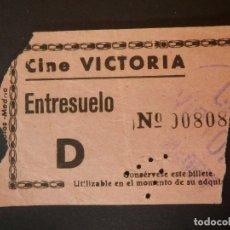 Cinéma: ENTRADA DE CINE - VITORIA - ENTRESUELO - ROSA - AÑOS 50´S 60´S. Lote 180149896