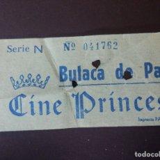 Cine: ENTRADA DE CINE - PRINCESA - VALENCIA - BUTACA PATIO - AÑOS 60´S. Lote 180150062