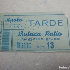 Cine: ENTRADA DE CINE - APOLO - VALENCIA - TARDE - BUTACA DE PATIO - AZUL - 20 DE FEBRERO DE 1955. Lote 180185158