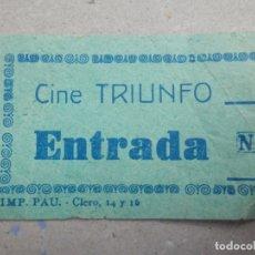 Cine: ENTRADA DE CINE - TRIUNFO - AÑOS 50´S 60´S. Lote 180210881