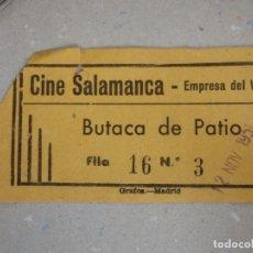 Cinéma: ENTRADA DE CINE - CINE SALAMANCA - BUTACA DE PATIO - 12 DE NOVIEMBRE DE 1951. Lote 180211090
