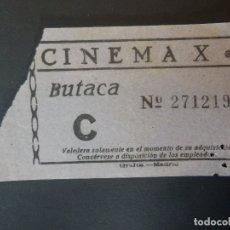 Cine: ENTRADA DE CINE - CINEMA X - MADRID - BUTACA - AÑOS 50´S 60´S. Lote 180213381