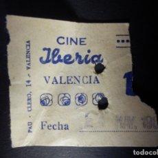 Cine: ENTRADA DE CINE - IBERIA - VALENCIA - BUTACA - AÑOS 50´S 60´S. Lote 180217835