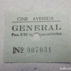Cine: ENTRADA DE CINE - AVENIDA - GENERAL - AÑOS 50´S 60´S. Lote 180220245