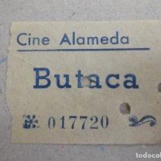 Cine: ENTRADA DE CINE - ALAMEDA - BUTACA - AÑOS 50´S 60´S. Lote 180220765