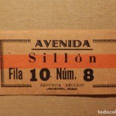 Cine: ENTRADA DE CINE - AVENIDA - VIGO - SILLÓN - AÑOS 50´S 60´S. Lote 181164842