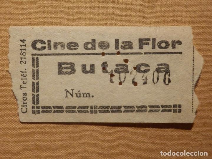 ENTRADA DE CINE - CINE DE LA FLOR - MADRID - BUTACA - AÑOS 50´S 60´S (Cine - Entradas)