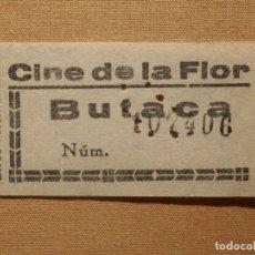 Cine: ENTRADA DE CINE - CINE DE LA FLOR - MADRID - BUTACA - AÑOS 50´S 60´S. Lote 181187710