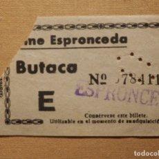 Cine: ENTRADA DE CINE - CINE ESPRONCEDA - MADRID - BUTACA - AÑOS 50´S 60´S . Lote 181401213