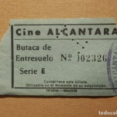 Cine: ENTRADA DE CINE - CINE ALCÁNTARA - MADRID - AÑOS 50´S 60´S. Lote 181412501