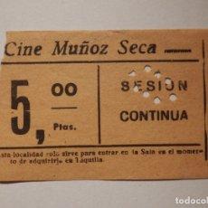 Cinéma: ENTRADA DE CINE - CINE MUÑOZ SECA - MADRID - AÑOS 50S - 60S. Lote 181694102