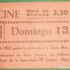 Cinéma: CINE. VALE 10 PUNTOS CATECISMO COLEGIO DE LA INMACULADA. JESUITAS. GIJÓN (ASTURIAS). Lote 182006916