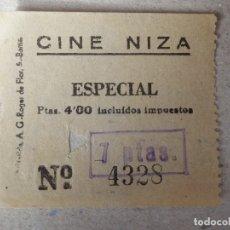 Cine: ENTRADA DE CINE - CINE NIZA - BARCELONA - ESPECIAL - AÑOS 50'S - 60'S. Lote 182088592