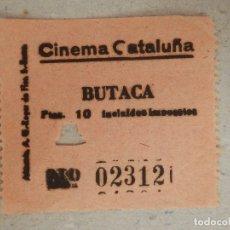 Cine: ENTRADA DE CINE - CINEMA CATALUÑA - BARCELONA - BUTACA - AÑOS 50'S - 60'S. Lote 182090166