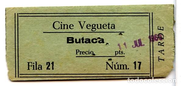 CINE VEGUETA ENTRADA ORIGINAL DE LA ÉPOCA LAS PALMAS DE GRAN CANARIA (ISLAS CANARIAS) (Cine - Entradas)