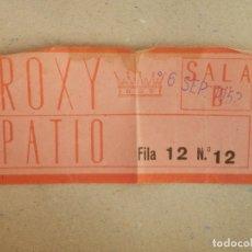 Cine: ENTRADA DE CINE - ROXY - BARCELONA - BUTACA - AÑOS 60'S -. Lote 182791452