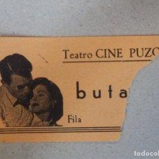 Cine: ENTRADA DE CINE - TEATRO-CINE - PUZOL - VALENCIA - BUTACA - ,AÑOS 60'S -. Lote 182793101