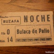 Cine: ENTRADA - TEATRO RUZAFA - VALENCIA - BUTACA DE PATIO - NOCHE - AÑOS 50'S 60'S. Lote 183204117