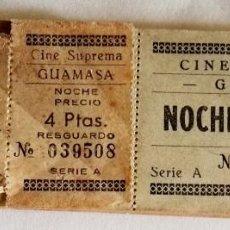 Cine: ANTIGUO TACO DE ENTRADAS CINE SUPREMA, GUAMASA, TENERIFE / 4 PTAS.. Lote 183507751