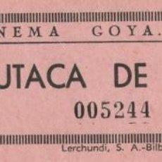 Cine: TRES ENTRADAS DEL CINEMA GOYA (ALCOY) (BUTACA DE PATIO). Lote 183521563