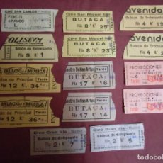 Cine: MADRID.CINE-ESPECTACULOS.LOTE DE 14 ENTRADAS AÑOS 60.. Lote 183595962
