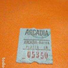 Cine: ENTRADA CINE ARCADIA PLATEA CAPICUA 05350. Lote 183708066