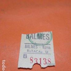 Cine: ENTRADA CINE BALMES BARCELONA CAPICUA 83138 BUTACA. Lote 183708128