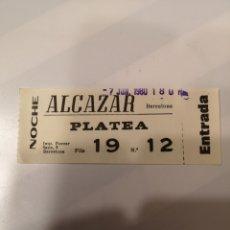 Cine: S3. 4. ENTRADA DE CINE. ALCÁZAR. BARCELONA. Lote 183860911