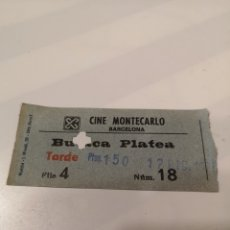 Cine: S3. 22. ENTRADA DE CINE. MONTECARLO. BARCELONA. Lote 183864167