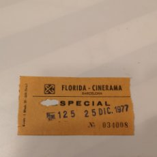 Cine: S3. 29 ENTRADA DE CINE. FLORIDA CINERAMA. BARCELONA. Lote 183864977
