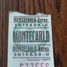 Cine: S3. 24. ENTRADA DE CINE. MONTECARLO. BARNA. Lote 183923796