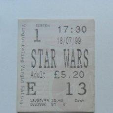 Cine: ENTRADA CINE STAR WARS LA AMENAZA FANTASMA 1999. Lote 183935218