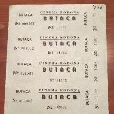 Cinéma: HOJA SIN CORTAR ENTRADAS CINE RODOÑA - BUTACA - VER DESCRIPCIÓN!. Lote 187313707