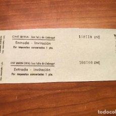 Cinéma: HOJAS SIN CORTAR ENTRADAS CINE IBERIA - SAN FELIU DE LLOBREGAT - INVITACIÓN 1 PTA - VER DESCRIPCIÓN!. Lote 187324211