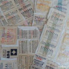Cinéma: MÁS DE 100 ENTRADAS AÑOS 1937-1939 / SUBSIDIO AL COMBATIENTE - CINES: RAMBLAS, BOHEMIA, ARNAU, CO.... Lote 190378937