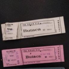 Cine: CINE, 3 TALONARIOS DEL CINE GRAN VIA DE ZARAGOZA, ARAGON, AÑOS 70. Lote 191049116