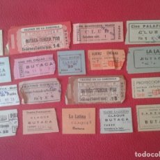 Cine: LOTE DE 18 ANTIGUAS ENTRADAS TICKETS BILLETE ENTRADA TICKET ENTRY ENTRANCE CINES Y TEATROS MADRID.... Lote 191156760