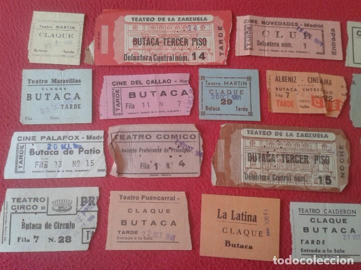 Cine: LOTE DE 18 ANTIGUAS ENTRADAS TICKETS BILLETE ENTRADA TICKET ENTRY ENTRANCE CINES Y TEATROS MADRID... - Foto 2 - 191156760