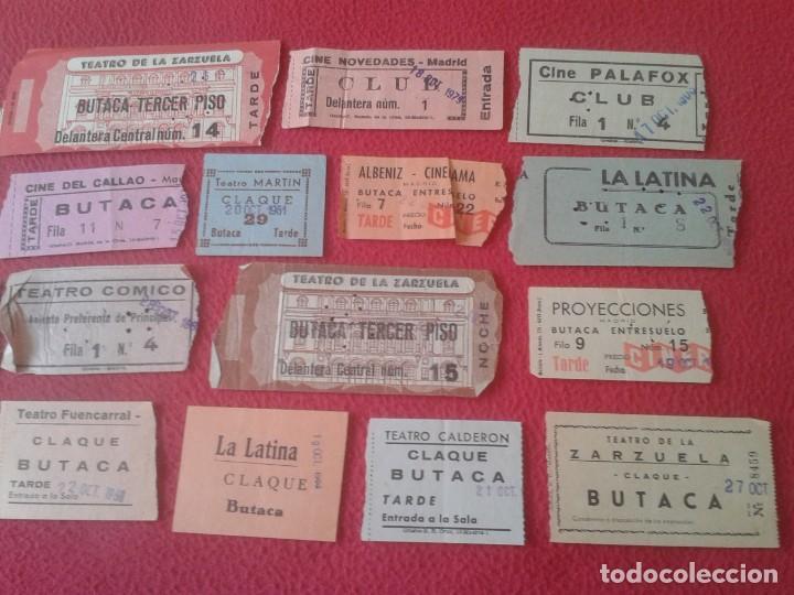 Cine: LOTE DE 18 ANTIGUAS ENTRADAS TICKETS BILLETE ENTRADA TICKET ENTRY ENTRANCE CINES Y TEATROS MADRID... - Foto 3 - 191156760