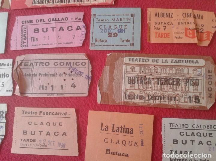 Cine: LOTE DE 18 ANTIGUAS ENTRADAS TICKETS BILLETE ENTRADA TICKET ENTRY ENTRANCE CINES Y TEATROS MADRID... - Foto 4 - 191156760