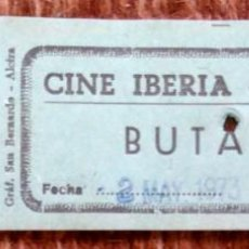 Cinéma: ENTRADA CINE IBERIA - VALENCIA 1973. Lote 191344721