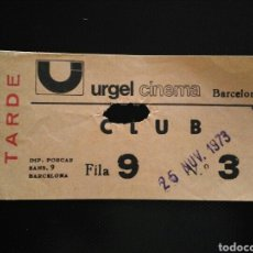 Cinema: ENTRADA CINE URGEL CINEMA BARCELONA. Lote 192072722