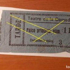 Cine: ENTRADA TEATRO DE LAS COMEDIAS. PALCO PRINCIPAL 11. Lote 192145951