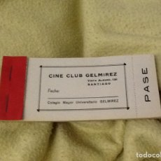 Cine: ENTRADAS CINE CLUB GELMIREZ SANTIAGO. Lote 192511182